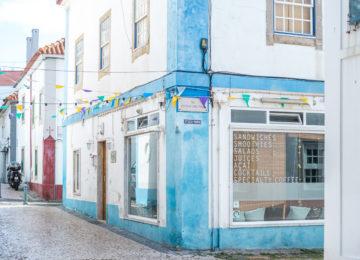 Idyllic street in Ericeira