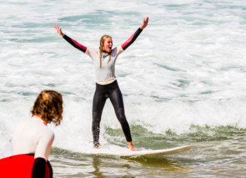 Super stoked surfer