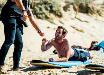 Fistbump on the beach